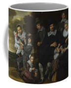 A Family Group In A Landscape Coffee Mug