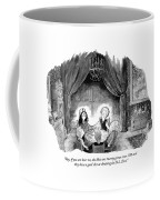 A Family Holds Hands In A Circle With A Psychic Coffee Mug by Tom Toro