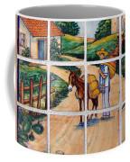 A Farm Scene On Plaza Tiles Coffee Mug