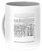 A Farmer And His Daughter Look At Cornstalks Who Coffee Mug