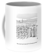A Farmer And His Daughter Look At Cornstalks Who Coffee Mug by Paul Noth