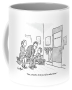 A Father Leans In To Give Advice To His Son Coffee Mug