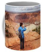 A Female Hiker Looking Coffee Mug