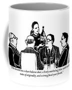 A Female Sommelier Presents A Bottle Of Wine Coffee Mug