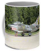 A Fiat G-91 Fighter Plane Of The German Coffee Mug
