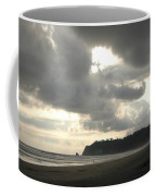 A Figure Strolls Along The Beach, Playa Coffee Mug