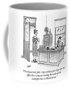 A Film Noir Detective Speaks On The Phone Coffee Mug