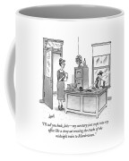 A Film Noir Detective Speaks On The Phone Coffee Mug