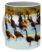 A Flock Of Geese Coffee Mug