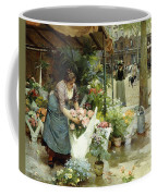 A Flower Market In Paris Coffee Mug