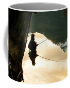 A Fly Fisherman Standing In A River Coffee Mug