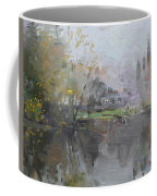 A Foggy Fall Day By The Pond  Coffee Mug