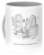 A Football Player Gets Dressed On A Bed Coffee Mug