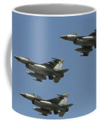 A Formation Of Turkish Air Force F-16cd Coffee Mug