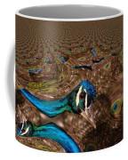 A Fractual Peacock  Coffee Mug