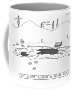 A Frozen Pond In A Snowy Winter.  The Surface Coffee Mug