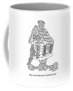 A Frustrated-looking Bird Perches Himself Coffee Mug