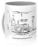 A Frustrated Teenager Addresses Both Coffee Mug