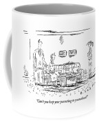 A Frustrated Teenager Addresses Both Coffee Mug by Barbara Smaller