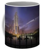A Futuristic City On An Coffee Mug