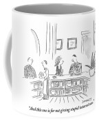 A General Explains His Medals To The Woman Seated Coffee Mug