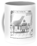 A General Plays Piano At A Bar Coffee Mug