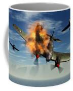 A German Heinkel Bomber Plane Crashing Coffee Mug