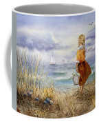A Girl And The Ocean Coffee Mug by Irina Sztukowski