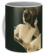 A Glamourous Woman Smoking Coffee Mug