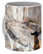 A Goat Hanging Out At The Base Coffee Mug