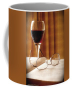 A Good Book And A Glass Of Wine Coffee Mug by Lucinda Walter