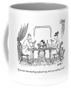 A Greek Family Is Seen Eating At The Table Coffee Mug