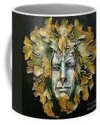 A Green Man Coffee Mug