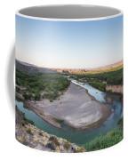 A Green River Curves Around A Deep Bend Coffee Mug