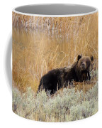 A Grizzily On A Buffalo Carcass Coffee Mug