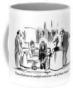 A Grouchy Man And His Wife Speak To Another Coffee Mug