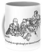 A Group Of Drinking And Smoking Men Gather Coffee Mug
