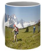 A Group Of Hikers In The Selkirk Coffee Mug