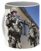 A Group Of U.s. Army Soldiers Provide Coffee Mug