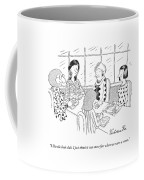 A Group Of Women Sitting Together Coffee Mug by Victoria Roberts