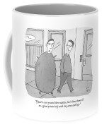 A Guy With A Giant Potato Body And Tiny Arms Coffee Mug