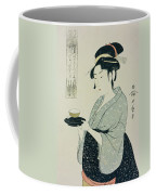 A Half Length Portrait Of Naniwaya Okita Coffee Mug