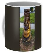 A Happy Tiki From A Palm Tree Stump Coffee Mug