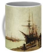 A Harbor Coffee Mug by Eugene Galien-Laloue