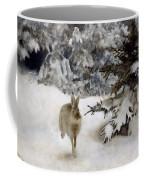 A Hare In The Snow Coffee Mug