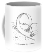 A Hare Speaks To A Tortoise As They Are Standing Coffee Mug