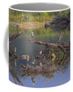 A Hedge Of Heron Coffee Mug