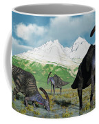 A Herd Of Parasaurolophus Dinosaurs Coffee Mug