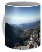 A Hiker Looks At The View Coffee Mug