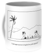 A Hollywood Couple Sits In A Hot Tub Coffee Mug